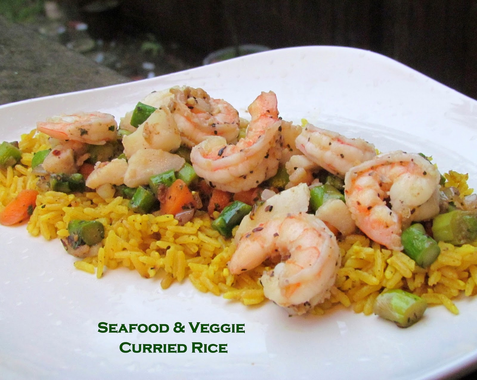 Seafood and Veggie Curried Rice