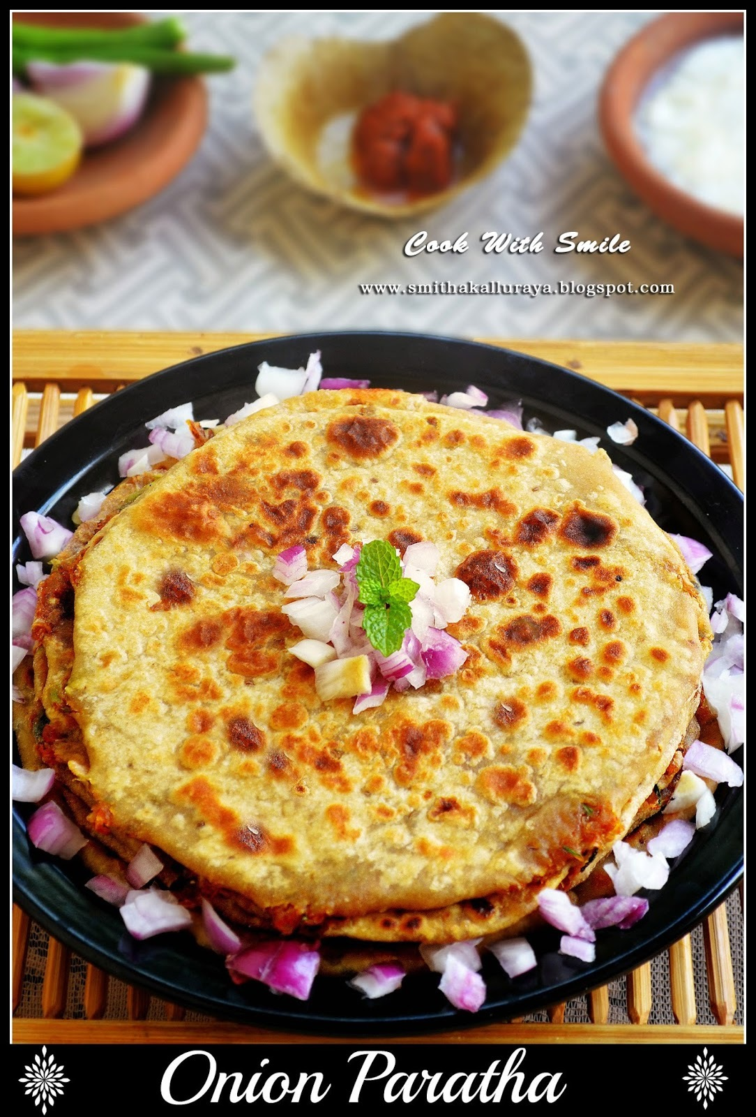 ONION PARATHA / PYAAZ KA PARATHA / STUFFED ONION FLATBREAD