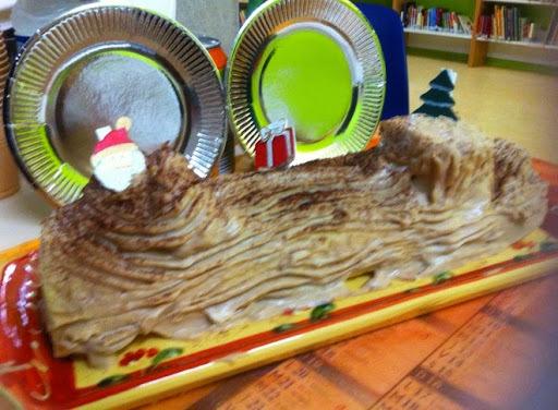Bûche de Noël à la crème de marrons et brisures de marrons glacés au thermomix ou sans