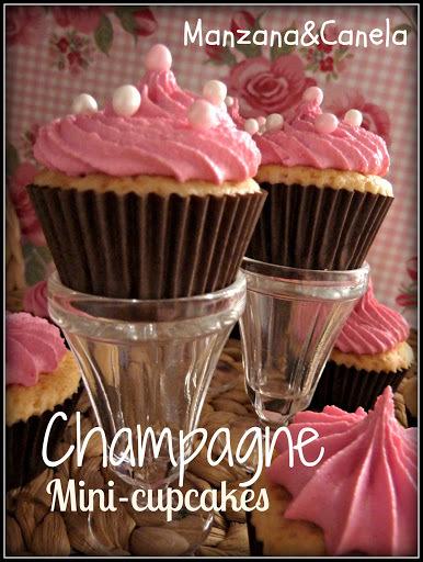 Mini-cupcakes de Champagne y feliz Año Nuevo!