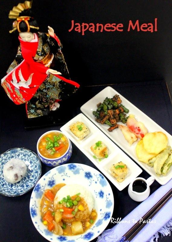 Japanese Meal with Kare Raisu