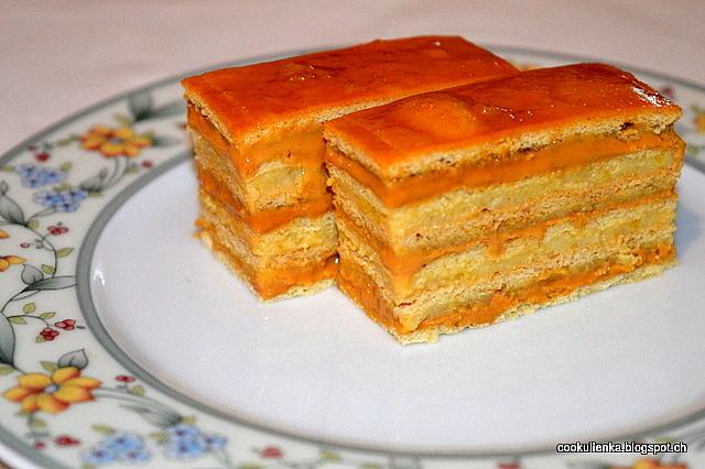 Medové rezy s tekvicovo-karamelovou plnkou
