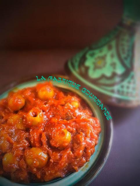 Salade Marocaine d'Aubergines aux Olives Vertes