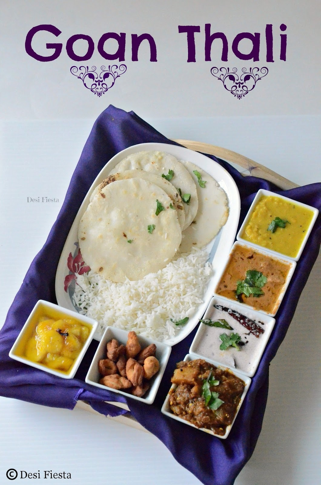 Goan Thali - A simple Goan Lunch Menu
