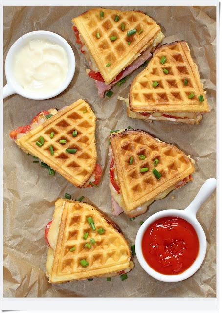 de recheio de waffle caseiro