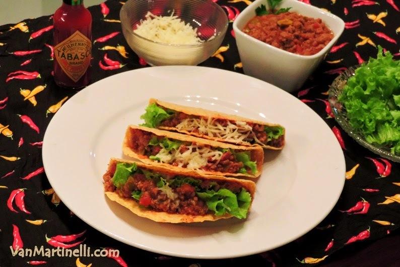 Tacos com chili