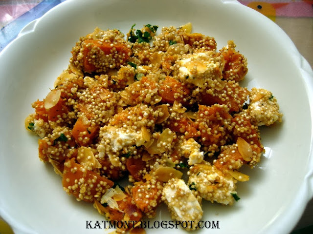 Salada de quinoa com abóbora e queijo feta - Quinoa à la courge butternut et à la feta