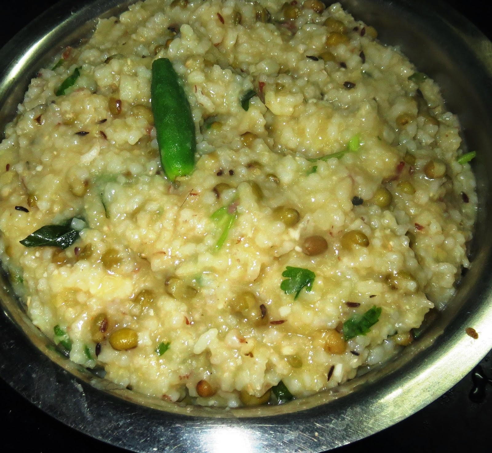 Red Rice -Whole Moong Kichidi