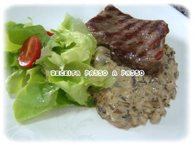Filet Mignon ao Molho Porcini / Filet Mignon in Porcini Sauce