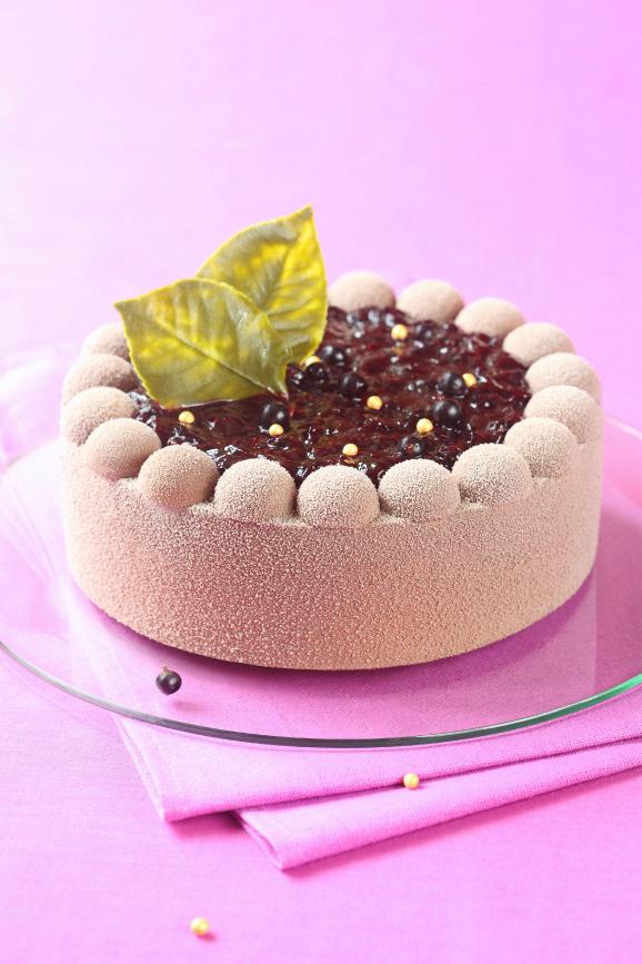 Шоколадный торт-мусс с чёрной смородиной (без желатина) / Torta mousse de chocolate e groselha preta (sem gelatina)