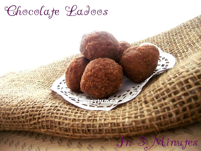 Chocolate Ladoos In Microwave, Easy and Quick