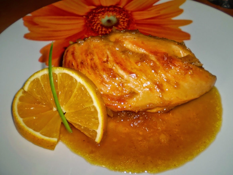 Pollo Deshuesado a la Naranja