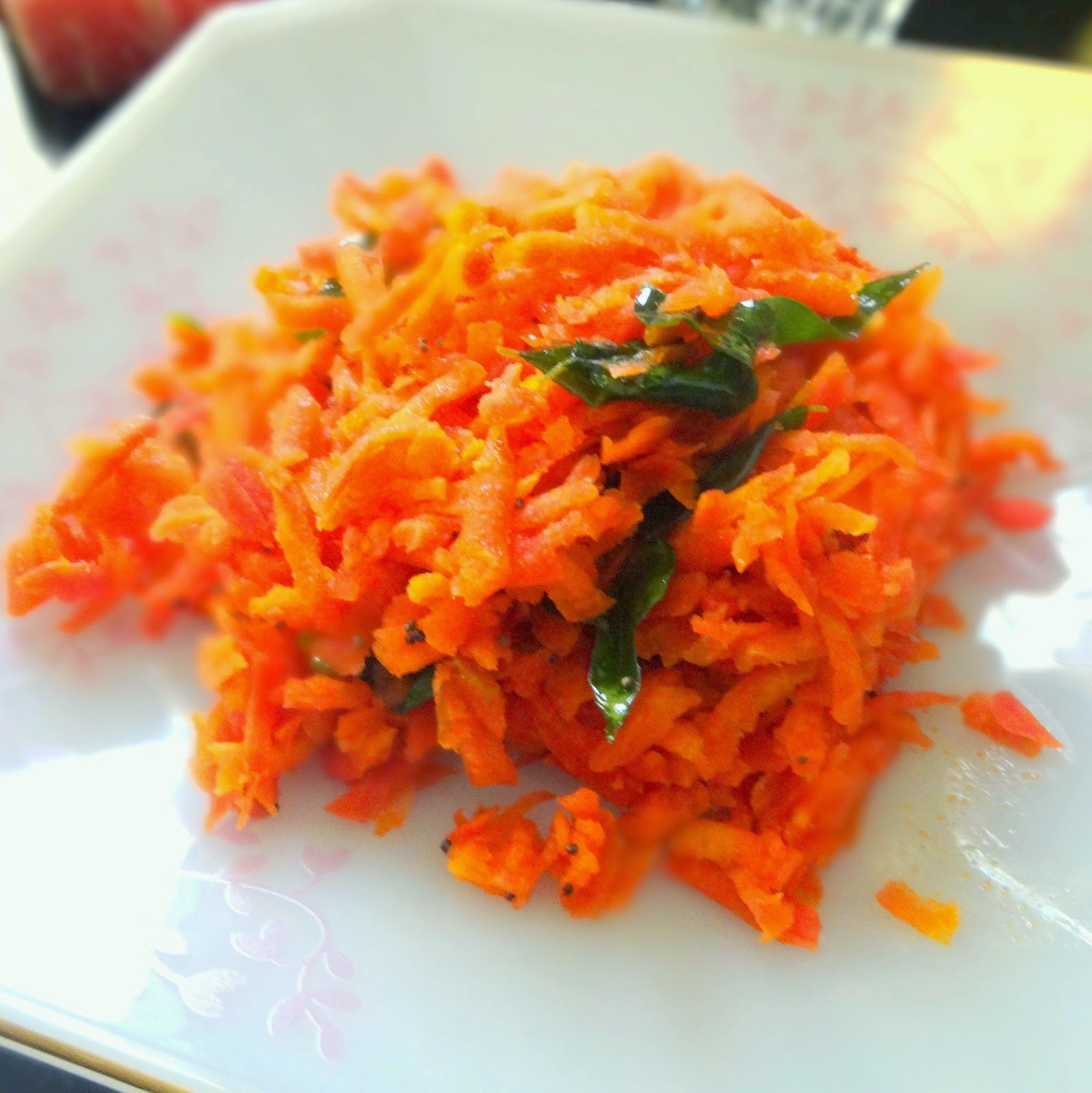 Carrot Salad- South Indian style!