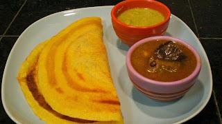 Andhra Special Pesrattu - Green Gram Crepe Stuffed With Semolina