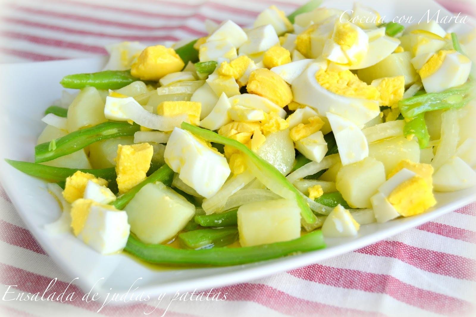 Ensalada de judías y patatas