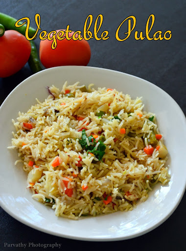 Simple Vegetable Pulao | Veg Pulao Recipe