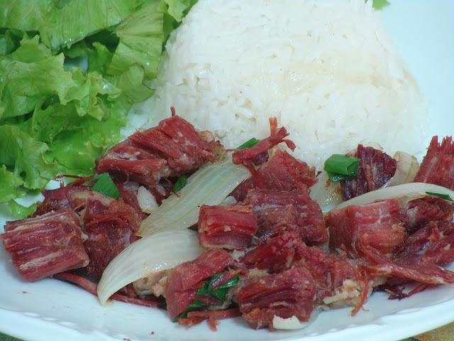 bolinho de charque carne seca