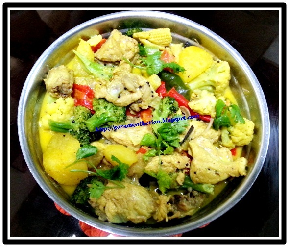 CHICKEN & MIXED VEGETABLES IN COCONUT GRAVY