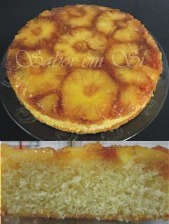 bolo de abacaxi caramelado bem fofinho