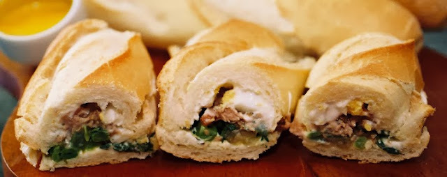 sanduiche baguete no palito