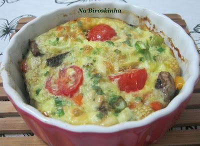 Torta Omelete de Vegetais Assados