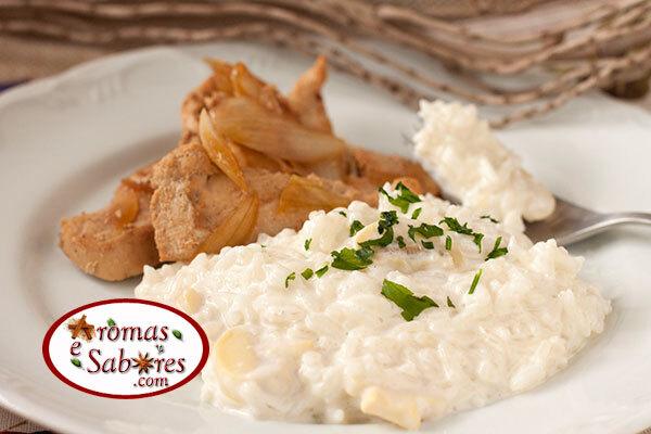 Receita de arroz a piamontese