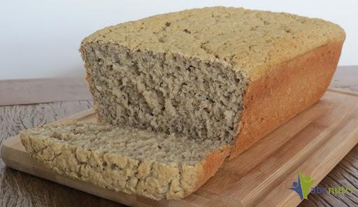Pão de biomassa de banana verde (sem glúten, sem lactose)