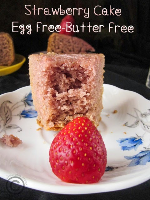 STRAWBERRY CAKE - EGG FREE BUTTER FREE I FRESH STRAWBERRY RECIPES I FRUIT CAKE