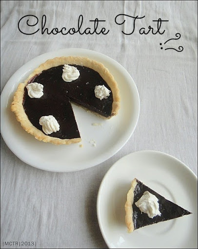 Chocolate Tart with Eggless Shortcrust Pastry