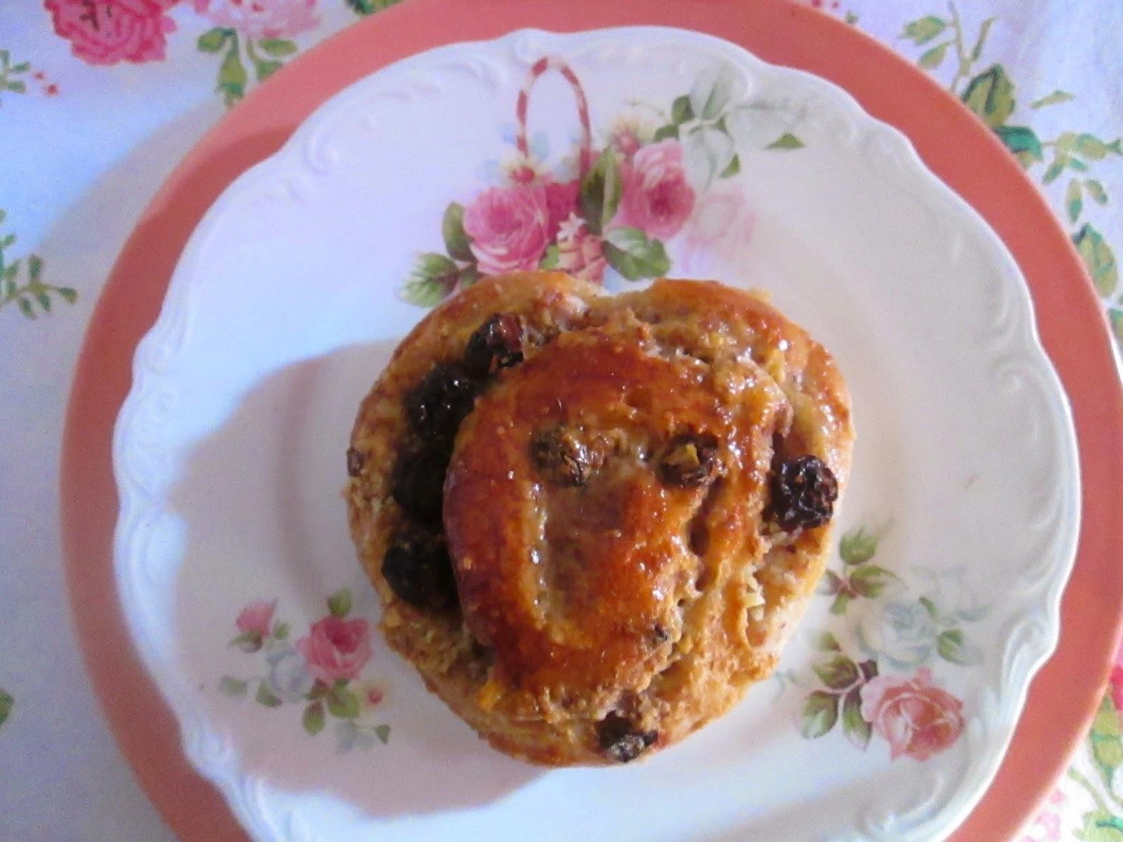 Pain aux raisins (pancitos con pasas)