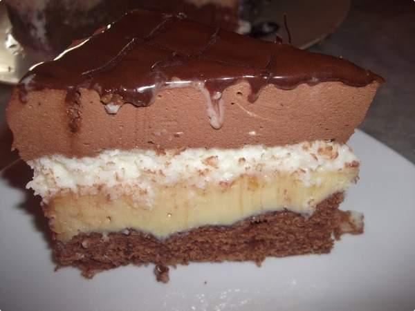 Bolo Tentação de Chocolate e Coco