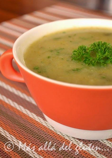 Sopa de Puerro (Receta GFCFSF, Vegana)