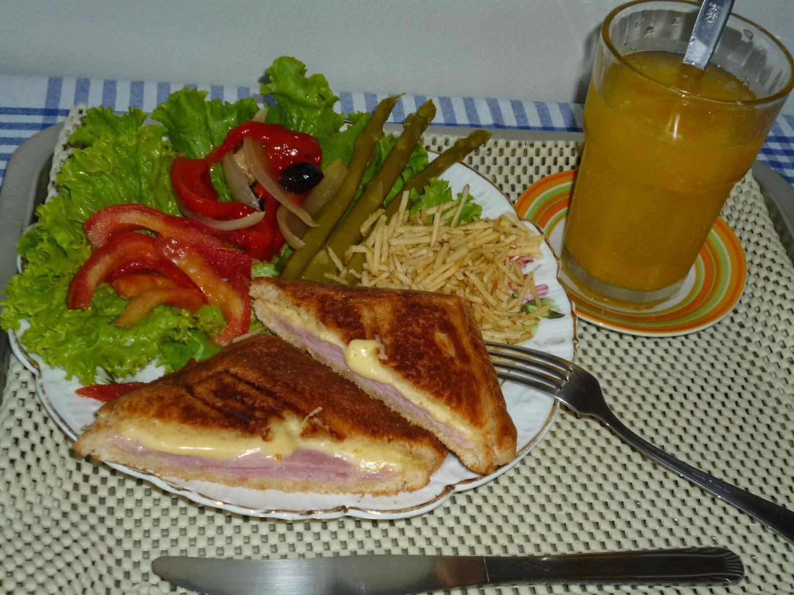 receita de lanche na sanduicheira