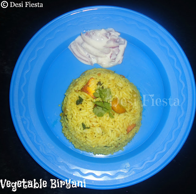 Vegetable Biryani (Come on - Lets Cook Buddies ) Entry 17
