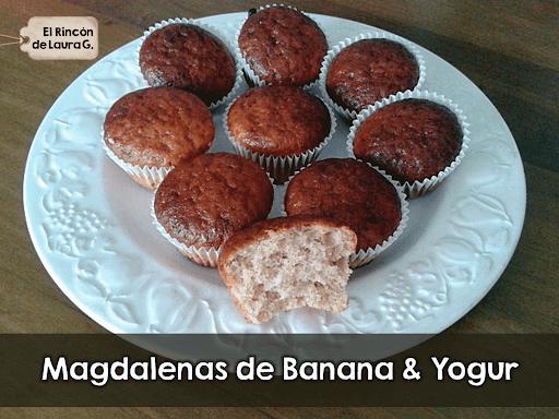 Magdalenas de Banana & Yogur