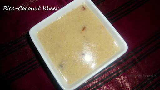Rice- Coconut Payasam /Kheer | Payasam recipe | Easy and quick recipe