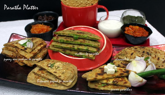 Indian Stuffed Parathas...A Tribute to Tarla Dala ji
