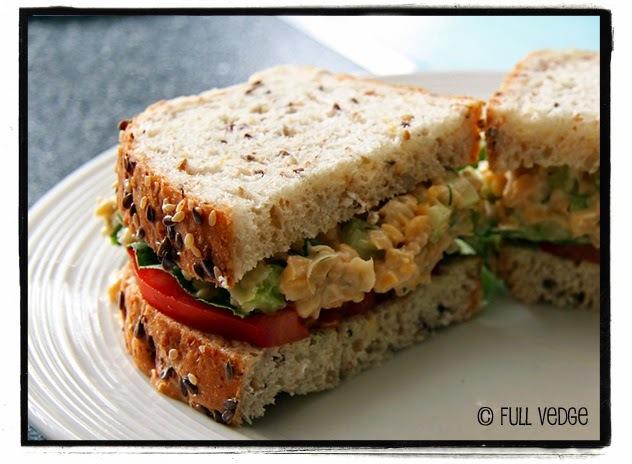 Garniture aux pois chiches pour sandwiches