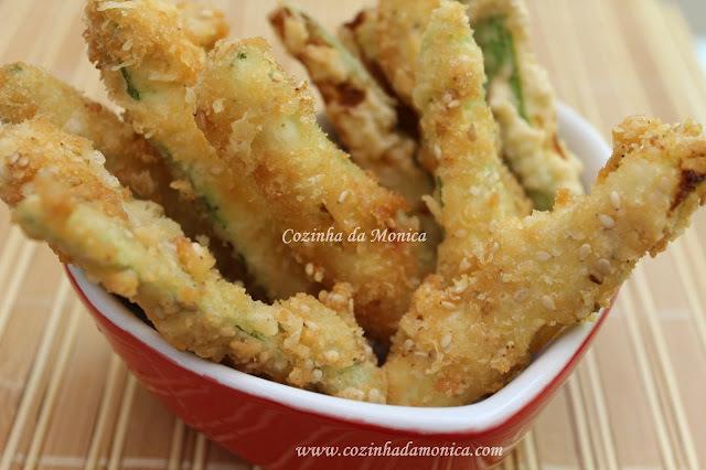 finger food de abobrinha