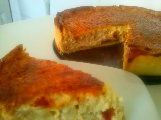 Quiche de bacon, champiñones y queso. (tarta salada)