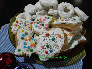 de biscoitos de baunilha decorados de natal