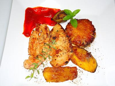 mini moranga recheada com carne moida e peito de frango