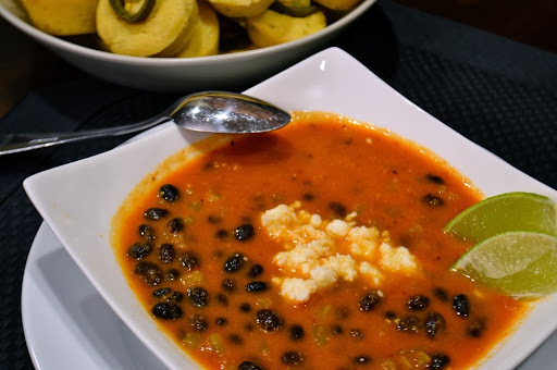 Black Bean and Green Chile Soup
