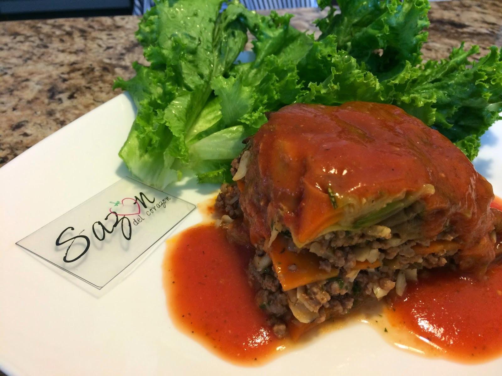 Pastel de verduras con carne molida
