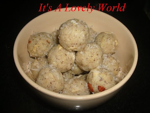 Coconut-Dried Whole Milk Ladoo