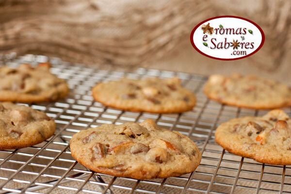 Cookies de chocolate com amêndoas