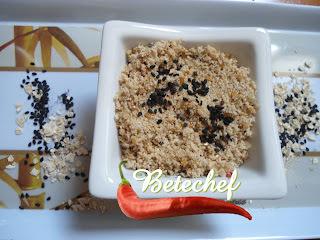 Farofa  rica em fibras, O consumo de  duas colheres de sopa por refeição é suficiente para melhorar o funcionamento do intestino.