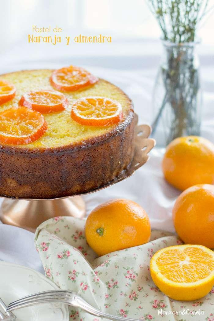 Pastel de naranja y almendra