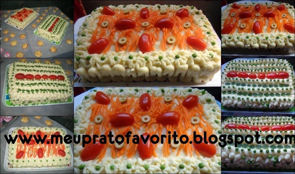 ingredientes para torta de frango e pão para 250 pessoas