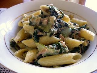 Jaime Oliver klasik, tjestenina sa blitvom (špinatom), sardinama i slatkim vrhnjem